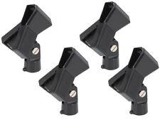 4 x muelle QTX Soporte de micrófono micrófono de clip adecuado para la mayoría de micrófonos para 30mm