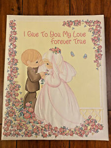 "VTG Precious Moments Wedding Keepsake Album ""I Give My Love to You Forever True"""