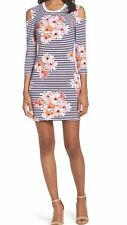 French Connection NEW Black Womens Size 10 Floral Striped Sheath Dress $98 349