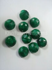 AAA Quality 10 Pieces Emerald 10x10  mm Round Rose Cut Loose Gemstone