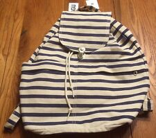 BAGGU Womens Drawstring Backpack, Sailor Stripe, One Size
