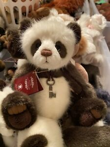 YANG Charlie Bears 12 inch Brown and white Panda.