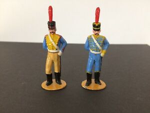 TWO HUSSAR OFFICERS. PROFESSIONALLY PAINTED.   PROBABLY TRADITION