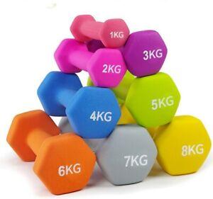 FREE POSTAGE! Neoprene Hex Dumbbell 0.5, 1, 1.5, 2, 3, & 4 kg