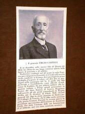 Il Generale Emilio Castelli Morto nel 1920
