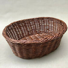 Vintage French Rustic Wicker Bread Basket For Serving Baguette At Dinner Table