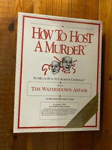 How To Host A Murder: The Watersdown Affair Dinner Party Game New Sealed