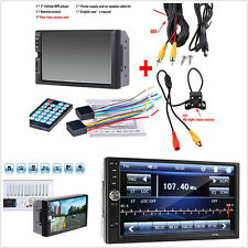"7"" 2DIN Car FM Bluetooth Touch Screen Audio Stereo Radio Video MP5 Player+Camera"