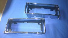 1987 1988 1989 1990 Chevy Caprice Right and Left Head Light Chrome Bezel New