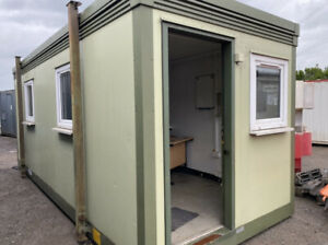 20ft Site Office Container With Kitchen And Toilet Welfare Unit, Double Glazing