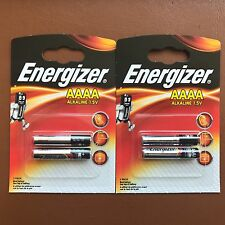 4 x Energizer AAAA 1.5V Batteries MN2500 E96 LR61 - With Longest Expiry