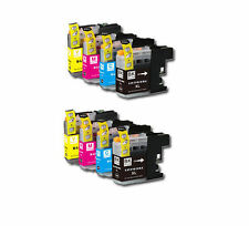 8PK Printer Ink Set w/ Chip for Brother LC201 LC203 XL MFC J460DW J480DW J485DW