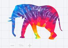 Tie Dye Elephant Decal/Sticker for Car/Truck/Window/Mirror