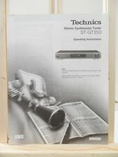 NOTICE MANUEL ORIGINAL OPERATING INSTRUCTIONS TECHNICS ST-GT350 TUNER RADIO N°2