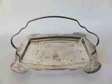 Vintage Goldcraft Silver Plated Basket, Art Deco Serving Tray, A1 EPNS Platter