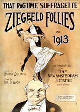 "Vintage Suffragette Propaganda ""ZIEGFELD FOLLIES RAGTIME"" 250gsm A3 Poster"