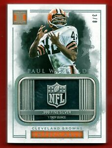 2016 PANINI IMPECCABLE PAUL WARFIELD 1 OZ SILVER BAR TROY OUNCE #D /8 SSP BROWNS