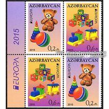 Aserbaidschan Azerbaijan Europa CEPT 2015, Spielzeug/Toys, teilgezähnt ** postfr