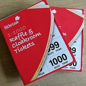 3500 Prize Draw Tickets 700 books of 5 Raffle Tickets