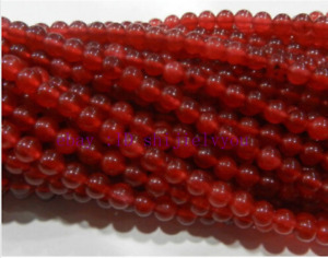 Beautiful 4mm Red Ruby Gemstone Round Loose Beads 15'' AAA+