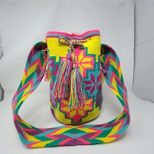 Handmade Artisinal Mochila Bags from Colombia - Large - Multicolor