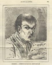Le Charivari (Karikatur/Satire Frankreich). - Lithographie v. Draner, 1878