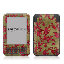 Kindle Keyboard Skin - Vintage Scarlet by Evan Eckard - Sticker Decal