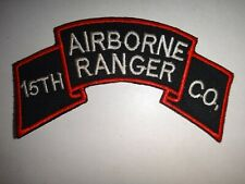 Korea War (1950-53) Scroll Patch Us 15th Ranger Infantry Company (Airborne)