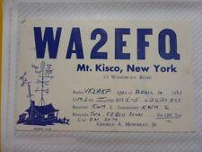 OLD VINTAGE QSL HAM RADIO CARD. MT KISCO, NEW YORK. 1961