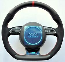 AUDI S Line ALCANTARA S3 RS3 S4 RS4 S5 RS5 S6 RS6 S8 Flat Bottom Steering wheel