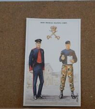 Military Uniforms Postcard Army physical Training Corps  Unposted