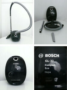 Bosch GL-30 Compact Eco Hepa Vacuum Cleaner Black With New Dust Bag & Filter