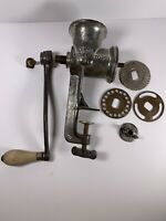 Vintage Keystone Manual Food Chopper Meat Grinder #20 Three Attachments