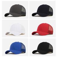 einfarbig monochrom uni Herren Damen Gaze Mützen Baseball Cap Kappe Snapback Hut