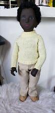 """SASHA doll BLACK Trendon CALEB Doll #318 w/tag 16"""" ENGLAND Vintage"""