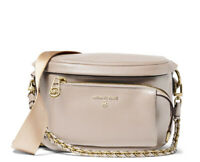 MICHAEL KORS SLATER MED LEATHER SLING PACK FANNY PACK LIGHT SAND NWT $248.