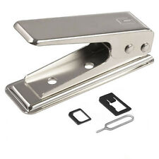 Standard Micro To Nano SIM Card Metal Cutter For iPhone 5 5s 6 6 Plus +2 Adapter