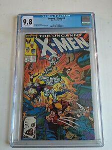MARVEL COMICS UNCANNY X-MEN #238 CGC 9.8 WHITE PGS 11/88