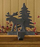 Christmas Stocking Holder Hanger - Moose & Tree by Park Designs - Iron Finish