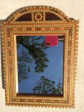 """Mosaic Wood Inlay Picture Frame or Mirror 10 1/4"""" x 7 1/2"""""""