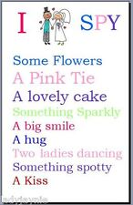 20 I Spy Cards for Children at Weddings - Camera Cards/Game - Various Designs