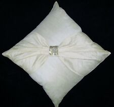 """Faux Raw Silk Embroidered Square Cushion Covers Design Ribbon 45cm 18"""""""