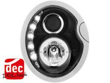 Scheinwerfer für Mini Cooper + S LED Tagfahrlicht Design Schwarz E.Prüfzeichen