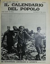 """"""" IL CALENDARIO DEL POPOLO N°157 / OTT/1957 """" NEL 40° ANNIVERSARIO DI CAPORETTO"""