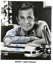 AMERICAN ACTOR MOREY AMSTERDAM HAND SIGNED B&W 10 X 8 PHOTOGRAPH