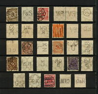 (YYAS 011) Germany Reich, nice selection perfins with letters Firmenlochungen