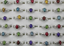 Newest style Wholesale Mixed lots 10pcs resin colorful lady Trendy rings