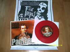 "INCA BABIES-PANTHERS 7""(BLACK LAGOON)RED VINYL+SIGNED POSTER"