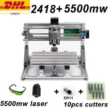 CNC 2418 + 5500mW with ER11 diy Mini CNC Laser Engraving Machine Pcb Milling