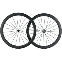 700C Bicycle Wheels 50mm Road Bike 25mm Clincher Carbon Wheelset Cycle Race Bike